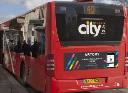 artory bus advert design yonyonson plymouth